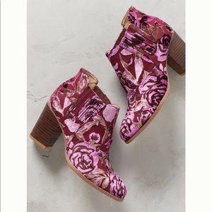 Coming Soon - Billy Ella Floral Velvet Booties